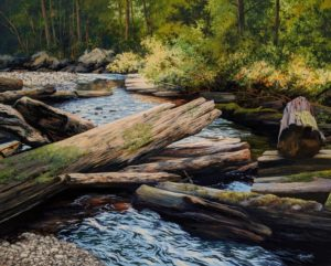 """Off the Beaten Path,"" by Merv Brandel 24 x 30 - oil $4175 Unframed"