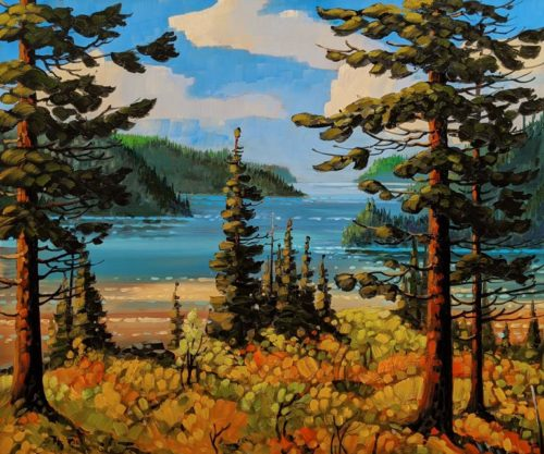 """Pacific Coast Inlet,"" by Rod Charlesworth 30 x 36 - oil $4065 Unframed"