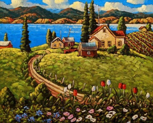 """Spring Fling, Okanagan,"" by Rod Charlesworth 24 x 30 - oil $2890 Unframed"