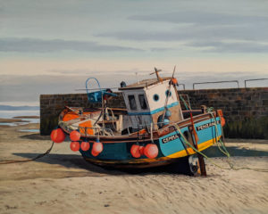 """Waiting for the Tide,"" by Merv Brandel 24 x 30 - oil $4175 Unframed"