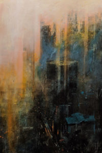"""""""Behind the Clouds,"""" by William Liao 24 x 36 - acrylic $2920 Unframed"""