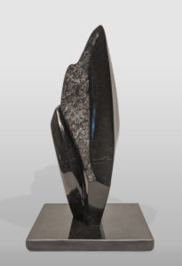 """Black Abstract III,"" by Herb Latreille 14"" (H) - Coquihalla jade $1800"
