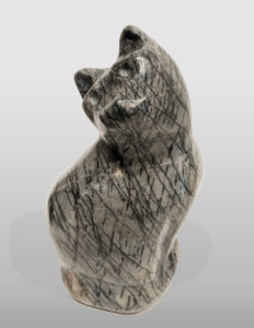 """Sitting Cat,"" by Herb Latreille 8 1/2"" (H) - Rainforest marble $600"