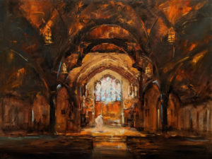 """""""Light of the World,"""" by William Liao 36 x 48 - oil $5725 (thick canvas wrap)"""