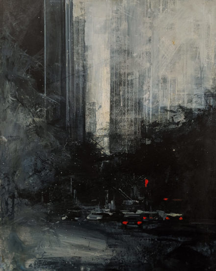 """""""Shadow Meets Light,"""" by William Liao 16 x 20 - acrylic $1235 Unframed"""