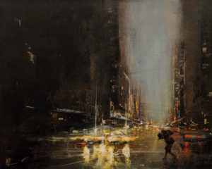 """SOLD """"Windy Day,"""" by William Liao 16 x 20 - acrylic $1235 Unframed"""