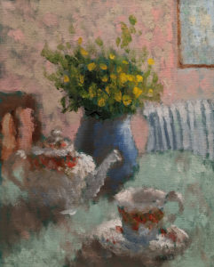 "SOLD ""Anticipation"" by Paul Healey 8 x 10 – oil $450 Unframed"