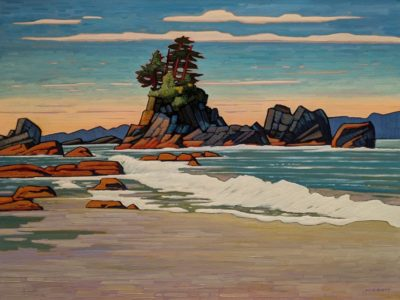 """Brady's Beach Crescendo II"" by Nicholas Bott 30 x 40 - oil $6060 (thick canvas wrap without frame)"