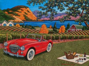 """A Great Spot for a Picnic,"" by Michael Stockdale 12 x 16 - acrylic $695 Unframed"