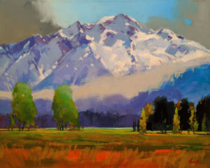 "SOLD ""Inspiration, Pemberton, B.C."" by Mike Svob 16 x 20 - acrylic $2200 Unframed"