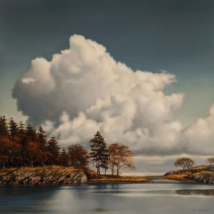 "SOLD ""Isthmus,"" by Ray Ward 16 x 16 - oil $1790 Unframed"
