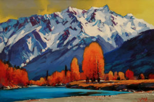 "SOLD ""Mountain Passion, Pemberton, B.C."" by Mike Svob 16 x 24 - acrylic $2575 Unframed"