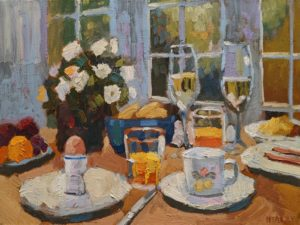 """SOLD """"Spring Morning,"""" by Paul Healey 12 x 16 - oil $700 Unframed"""
