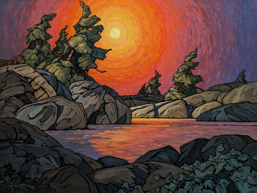 """""""Bedrock and Boulders,"""" by Phil Buytendorp 36 x 48 - oil $5200 (thick canvas wrap)"""