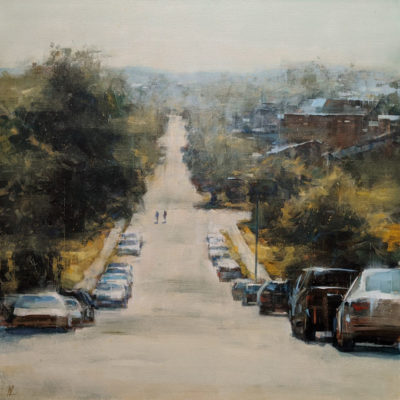 """In the Sun,"" by William Liao 36 x 36 - acrylic $4300 (thick canvas wrap)"