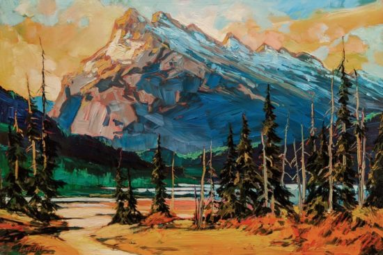 """Rundle Study,"" by David Langevin 12 x 18 - acrylic $1100 Unframed"