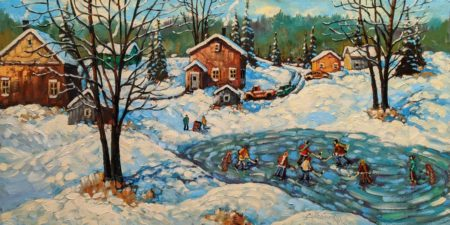 """Yesterday's Fun,"" by Rod Charlesworth 18 x 36 - oil $2890 Unframed"