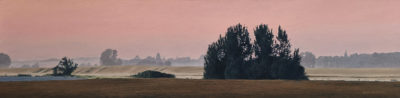 """August Dusk,"" by Ron Parker 9 x 36 - oil $2100 Unframed"