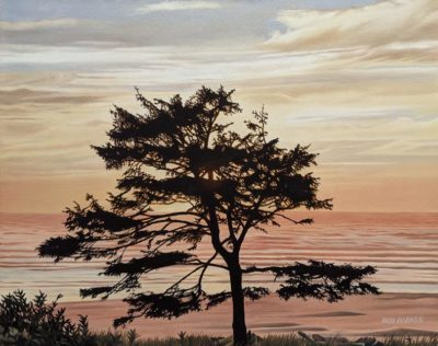 """SOLD """"Late Afternoon,"""" by Ron Parker 16 x 20 - oil $2100 Unframed"""