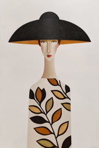 """""""Leanne in Spring,"""" by Danny McBride 40 x 60 - acrylic $8800 (thick canvas wrap)"""