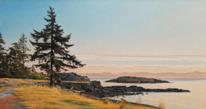 """Lone Fir,"" by Ron Parker 16 x 30 - oil $2900 Unframed"