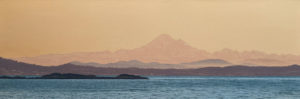 """Mount Baker Before Dawn,"" by Ron Parker 12 x 36 - oil $2600 Unframed"