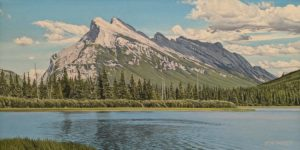 """Mount Rundle,"" by Ron Parker 12 x 24 - oil $2000 Unframed"