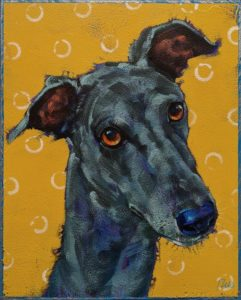 """Olive,"" by Angie Rees 8 x 10 - acrylic $575 (unframed panel with 1 1/2"" edges)"