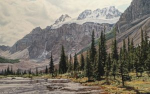"""Quadra Mountain,"" by Ron Parker 30 x 48 - oil $7800 Unframed"