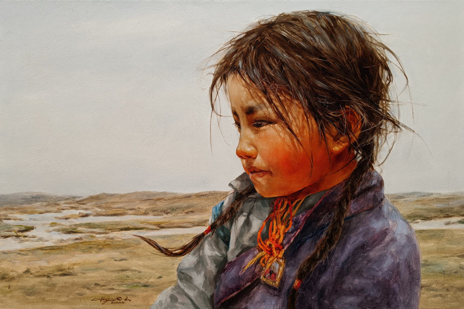 """SOLD """"The Snow Melt"""" 24 x 36 - oil $6050 (thick canvas wrap)"""