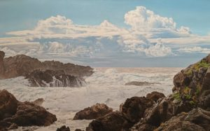 """Wild Pacific,"" by Ron Parker 30 x 48 - oil $7800 Unframed"