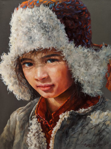 "SOLD ""Winter Hat"" 18 x 24 - oil $3650 Unframed"