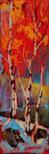 """""""1901"""" by David Langevin 2 1/2 x 7 1/2 - acrylic, high-gloss finish $195 (5/8"""" panel with painted edges)"""