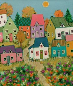 "SOLD ""At the End of the Summer,"" by Claudette Castonguay 10 x 12 - acrylic $390 Unframed"