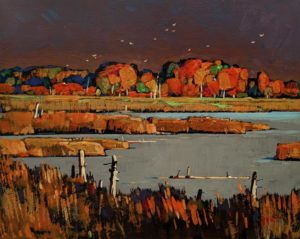 "SOLD ""Autumn Gold,"" by Min Ma 8 x 10 - acrylic $845 Unframed"