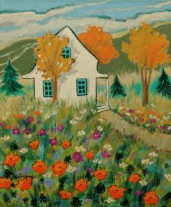 "SOLD ""A Beautiful Summer Day"" by Claudette Castonguay 10 x 12 - acrylic $390 Unframed"
