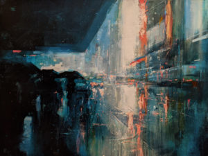 """""""Blanket of Rain,"""" by William Liao 30 x 40 - acrylic $3980 (thick canvas wrap)"""
