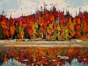 """Colourful Autumn,"" by Min Ma 9 x 12 - acrylic $1090 Unframed"