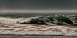 "SOLD ""December Grey,"" by Ray Ward 6 x 12 - oil $940 Unframed"