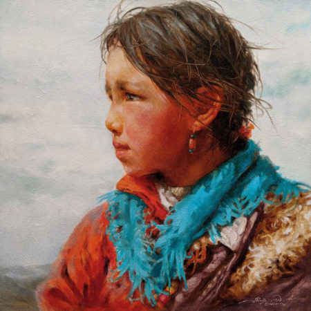 """""""Faraway Story,"""" by Donna Zhang 16 x 16 - oil $2225 Unframed"""