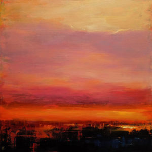 """""""Final Chapter,"""" by William Liao 36 x 36 - acrylic $4300 (thick canvas wrap)"""