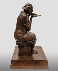 """""""The Fortune Teller"""" by Michael Hermesh 12 1/2"""" (H) x 7 1/2"""" (L) x 7"""" (W) - bronze Edition of 15 $5000"""