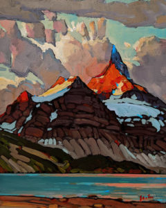 "SOLD ""Great View, Mt. Assiniboine,"" by Min Ma 8 x 10 - acrylic $845 Unframed"