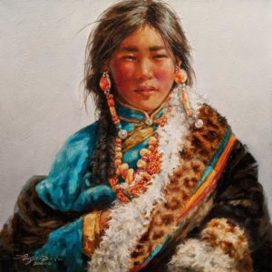 """SOLD """"Market Day,"""" by Donna Zhang 16 x 16 - oil $2225 Unframed"""
