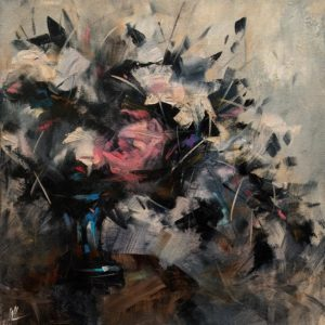 "SOLD ""Memory's Trace,"" by William Liao 12 x 12 - oil $635 Unframed"