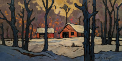 "SOLD ""Near Mahood Lake,"" by Phil Buytendorp 8 x 16 - oil $880 Unframed"