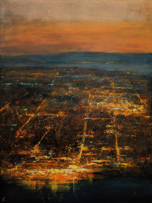 """New Moon,"" by William Liao 36 x 48 - acrylic $5725 (unframed panel with thick edges)"
