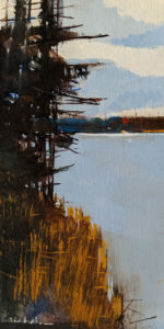 "SOLD ""Pan Lake,"" by David Lidbetter 6 x 12 - oil $850 Unframed"