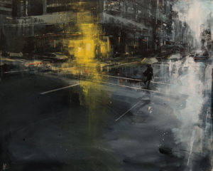 """""""Rain Chords,"""" by William Liao 24 x 30 - acrylic $2600 (thick canvas wrap)"""