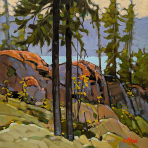 """SOLD """"Slope View,"""" by Graeme Shaw 10 x 10 - oil $570 Unframed"""